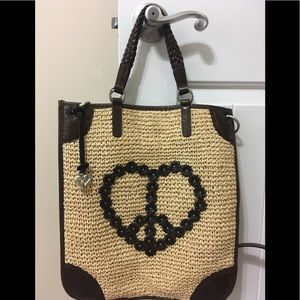 """Heart-Shaped"" Peace Sign Brighton Tote! 💥"